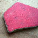 BEACH SEA GLASS CERAMIC POTTERY MOSAIC RED PENDANT SURF