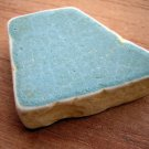 BEACH SEA GLASS CERAMIC POTTERY MOSAIC BLUE PENDANT