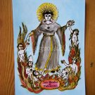Handpainted Retablo Art Print Patron Saint of Purgatory
