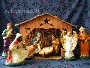 Vintage German Nativity from S.S. Kresge 1940's