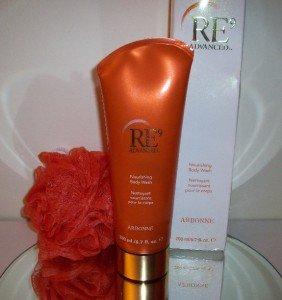 Arbonne RE9 Advanced Nourishing Body Wash + Puff