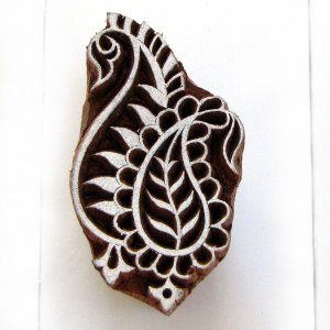 Stamping small 2in paisley 4 handmade solid wood block printing ink stamp paper craft stamps