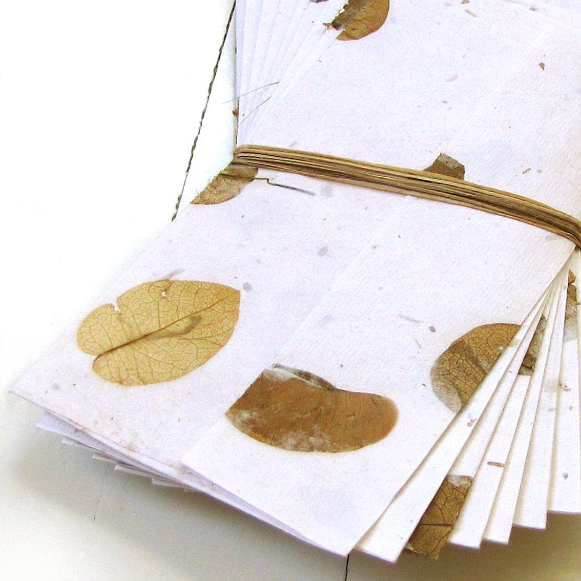 Writing paper set 10 handmade paper eco friendly cotton mom present white petal