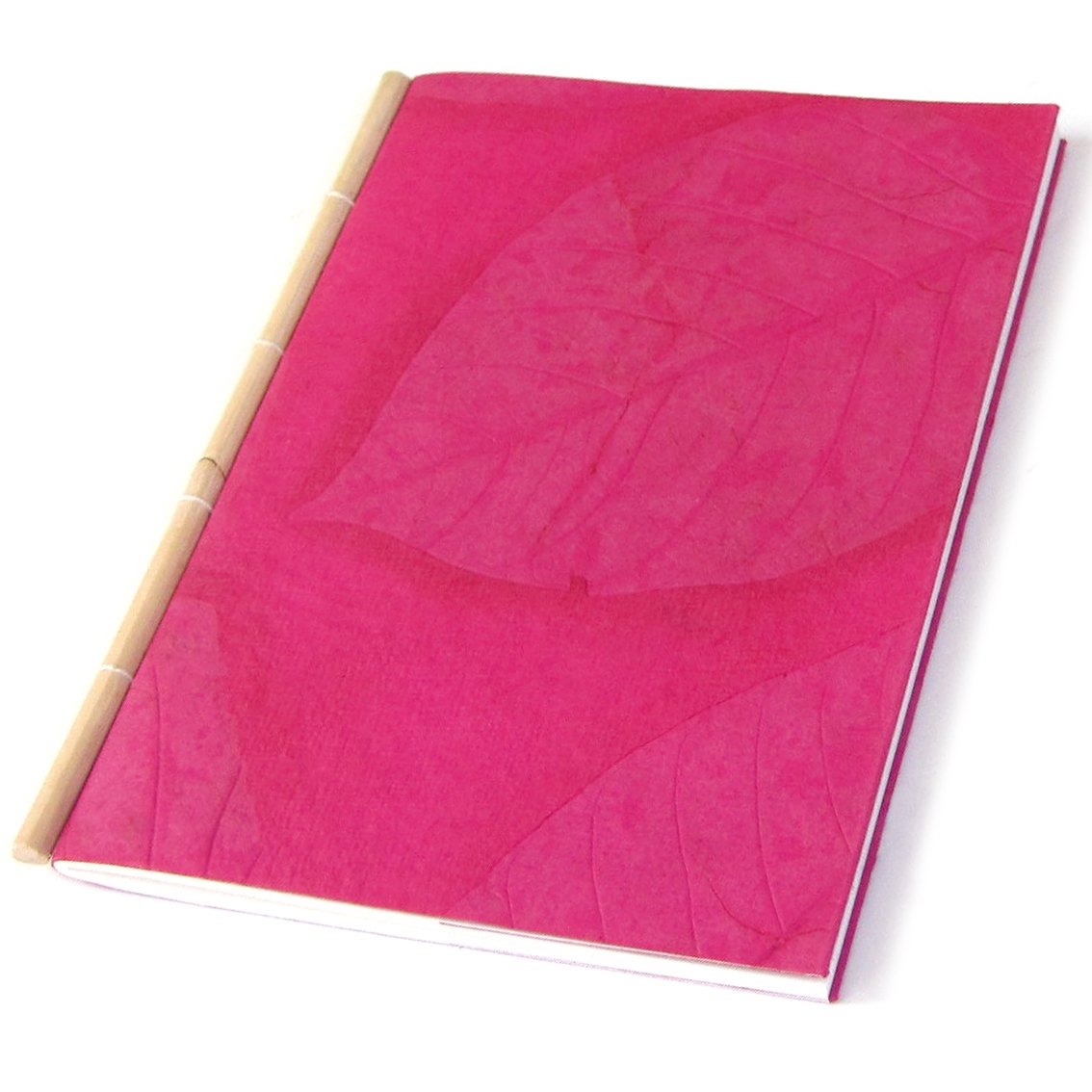 Guest book sketching 5x7 30pp scrapbook handmade pink recycled paper diary with cane spine