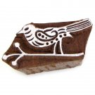 Stamping bird on twig 1.5in handmade solid wood block printing ink stamp paper craft supplies