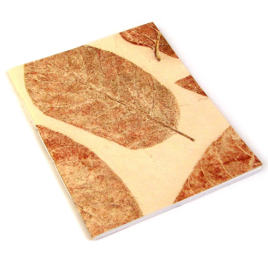 Scrapping guest book journal handmade recycled cream leaf paper blank notebook journaling 7x8 50pp