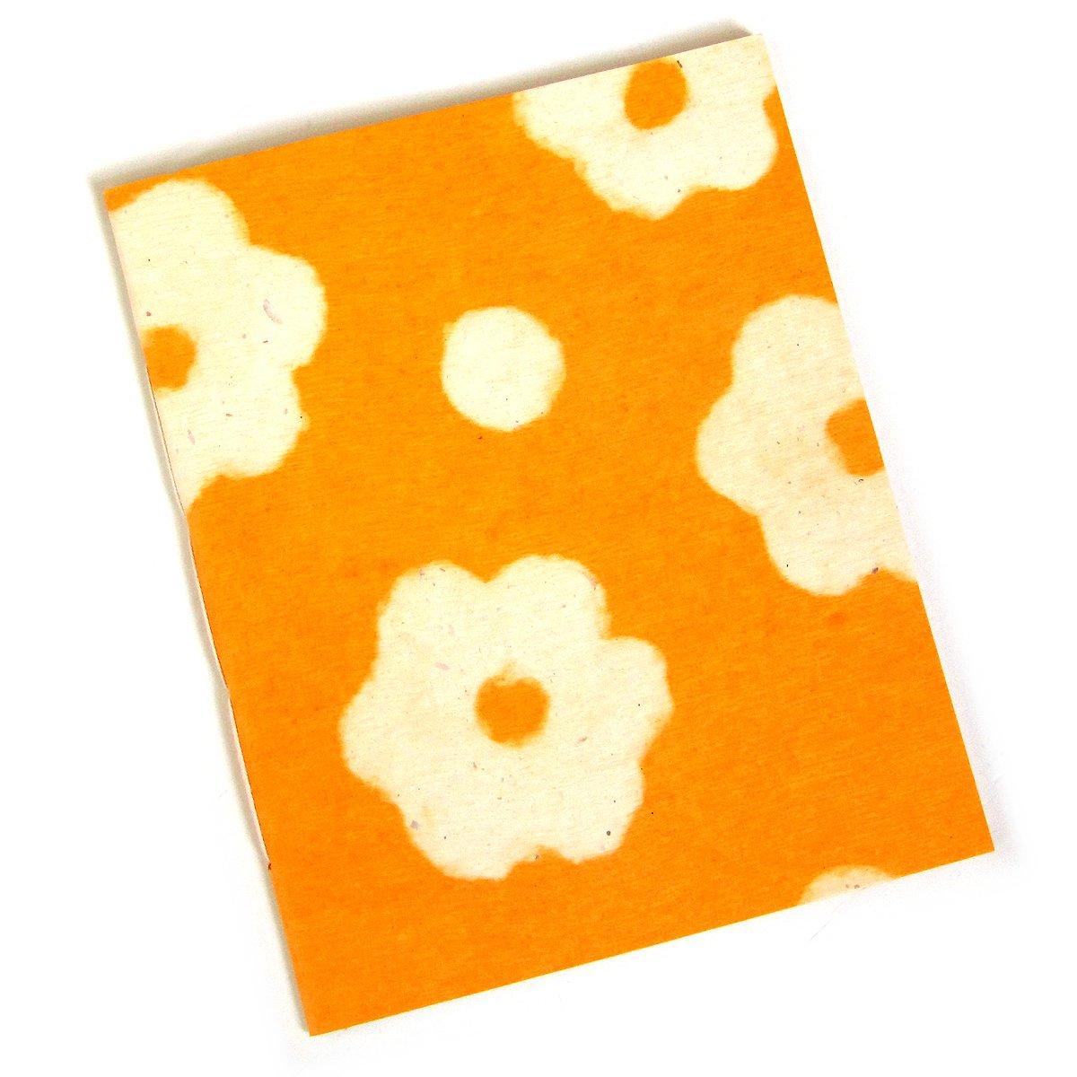 Sketching scrapbook handmade flower recycled paper yellow 7x8 20pp journal notebook mom present