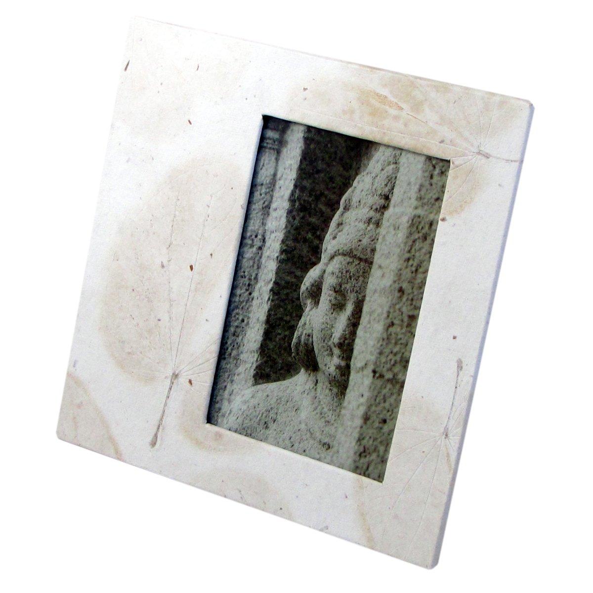 Wedding photo frame 4x6/5x7 tree free handmade white heart leaf imprint paper