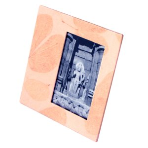 Baby picture frame 4x6/5x7 pics tree free leaf imprint paper baby shower, wedding, gift
