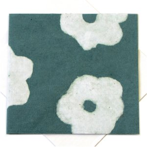 """Handmade greetings thank you mom cards square 5x5 1/2"""" recycled flower power paper sea green bday mom xmas gifts"""