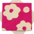 Greeting cards handmade pink/natural flower power handcrafted paper square 5x5 1/2""