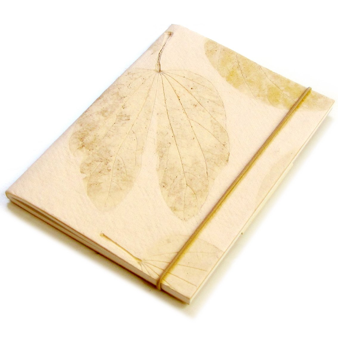 Blank handmade diaries notes recipes 5x7 40pp cream heart leaf handmade paper notebook Xmas gifts