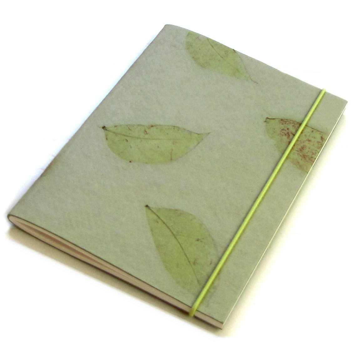 Travel journal guest book mint handmade small leaf paper sketching 5x7 40pp blank diary