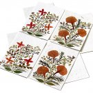 4 greetings mom thank you mom cards dried press flowers Xmas handmade tree free paper 5x7