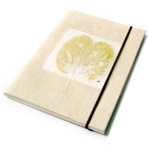 Handmade Mom guest book diary journal notebook natural leaf paper 5x7 40pp natural/cream