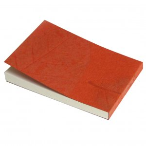 Notepads handmade natural orange leaf paper crafts 3x5in 100 peel off pages recycled stationery