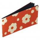 Photo book acid free long album 4x6 orange handmade flower power paper 16pp Xmas gifts