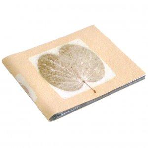 Wedding album book 5x7/6x8 photos 16pp pale sand handmade tree free natural leaf paper
