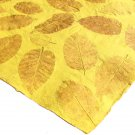 Natural handmade craft paper sheets 21x31in recycled paper craft yellow large leaf