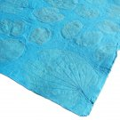 Tree free paper handmade scrapbook gift wrapping craft paper 21x31in sheets turquoise large leaf