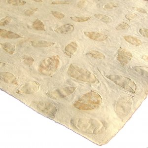 Scrapbook wrapping gift craft paper handmade tree free 21x31in recycled cream natural small leaf