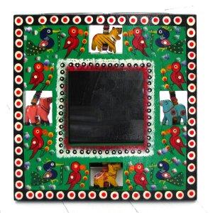 Photo picture framing wood handmade 3.5x3.5 Valentine's gifts Indian folk art craft mom present