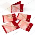 Handmade craft paper gift tags 3x2.5 set 5 red natural leaf tree free paper gift ideas