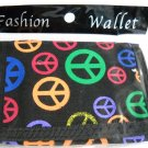 Peace Sign velcro trifold wallet new ID holder