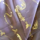 I Love Jesus musical note neck scarf Brown gold accents