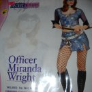 Police Officer womans costume Sexy 4pc Miranda Wright Dancer Cop medium