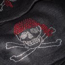 New Black Skull n  Crossbones knit  Beanie hat