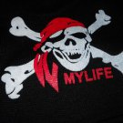 Pirate Skull studded Knit Beanie Hat new