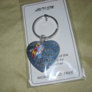 Autism  heart puzzle key chain new