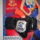 Hottie police womans Gun holster garter black ruffle sexy costume accessory