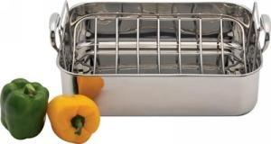 New - Precise Heat 18/10 Stainless Steel Roasting Pan