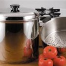 Precise Heat 24 Qt. 9 Element Waterless Stock Pot with Deep Steamer Basket