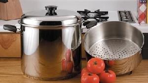 Precise Heat 24 Qt. 9 Element Waterless Stock Pot with Deep Steamer Basket