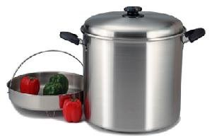 NEW - Precise Heat 30 Qt. Waterless Stock Pot with Steamer Basket