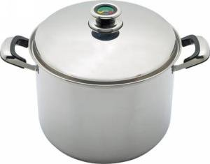 Chefs Secret by Maxam 16qt Thermo Control T304 Surgical Stainless Stock Pot with High Dome Cover