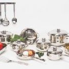 Chefs Secret 29pc 18/10 Stainless Steel Cookware with riveted sturdy stainless steel handles