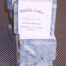 Handcrafted  Bar Soap Clean Cotton Fragrance Handmade with Organic Shea Butter Essential Oils
