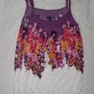 American Eagle Fashion Floral Tank Purple