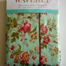 WAVERLY Floral Tablecloth Vinyl Flannel back Flower NEW