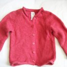 GAP Baby Girls Fall Wool Red Cardigan Sweater 2 2t 3 3T
