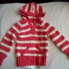 OLD NAVY Pink White Hood Girls Fall Sweater 2 2t 3 3T