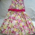 Emma's Garden Floral Girls Emmas Lined Dress 3 3t 4 4T