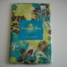 Blue Brown Flowers Summer Tablecloth Vinyl Flannel New