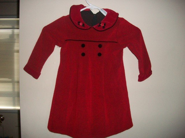 RARE EDITIONS Girls Red Black Holiday Dress 2 2t 3 3t