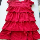 LIMITED TOO Girls Red RUFFLES DRESS Sparkly L XL 16 18