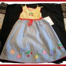 Youngland Girls Gingham Summer Dress Fruit NEW NWT 4 5